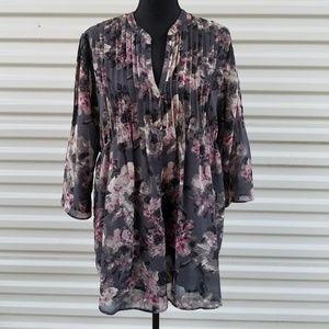 Calvin Klein Jeans Tops - Calvin Klein floral button front tunic top